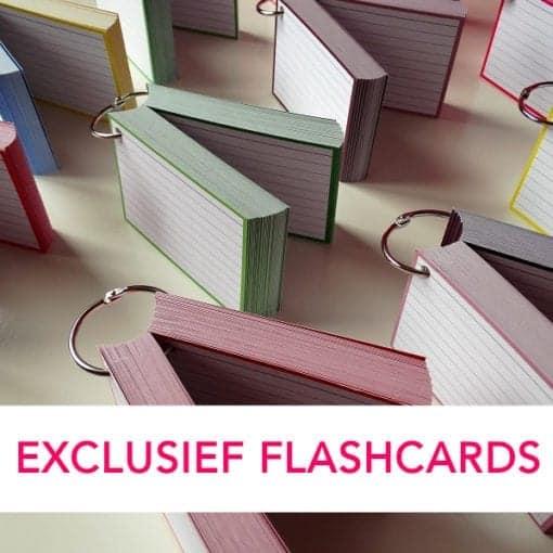 Perforatie en klikringen voor flashcards