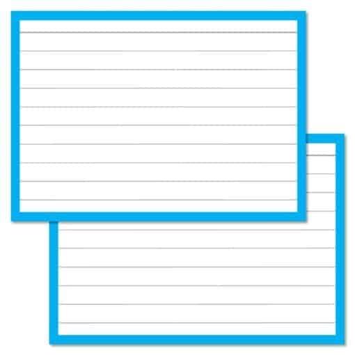 Blauwe Flashcards