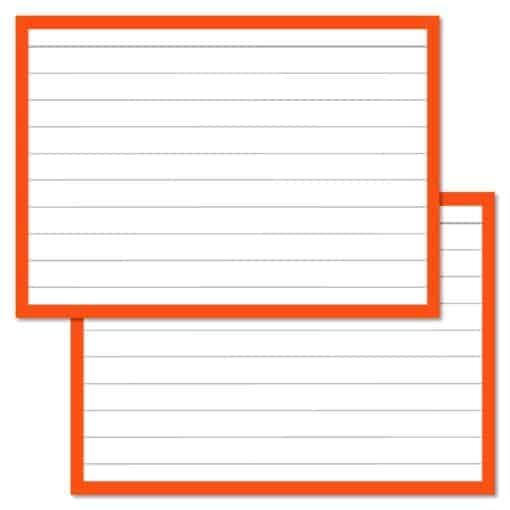 Flashcards pakket kleur 2000 stuks