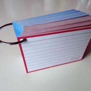 Klikringen 10 stuks inclusief perforatie 1000 flashcards