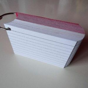 Klikringen 5 stuks inclusief perforatie 500 flashcards
