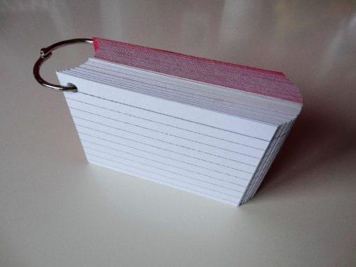 Klikringen 10 stuks inclusief perforatie 750 flashcards