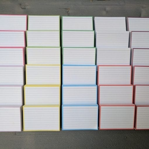 Flashcards pakket kleur 1500 stuks