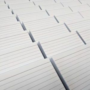 Snel bestellen - 500 flashcards gelinieerd blanco