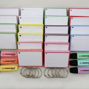 Colour Pack M 1000 A7 flashcards 10 klikringen Stabilo Boss Pastel front