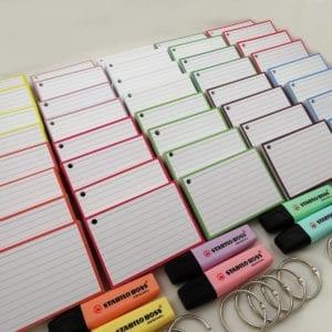 Colour Pack XL 2000 flashcards 20 klikringen Stabilo Boss Pastel