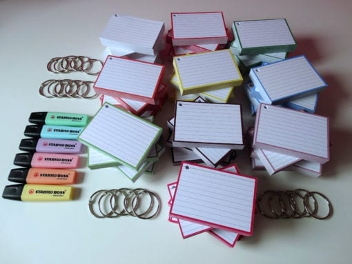 Colour Pack XL 2000 A7 flashcards klikringen stabilo top 1600