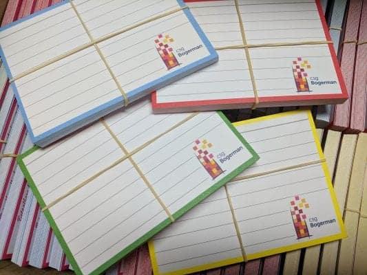 CSG Bogerman flashcards op maat open dag