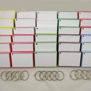Pakket kleur 1500 flashcards inclusief perforatie en 15 klikringen hoofdfoto