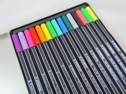 Stabilo Pen 68 Black Edition open side