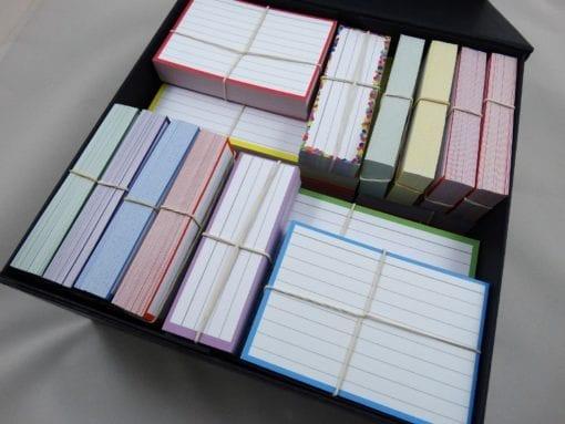 Cadeaubox gevuld met flashcards in 3 maten