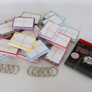 Colour Pack M 1000 A7 flashcards Stabilo Pen 68 Black Edition