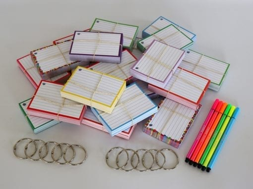 Colour Pack M 1000 A7 flashcards Stabilo Pen 68 NEON