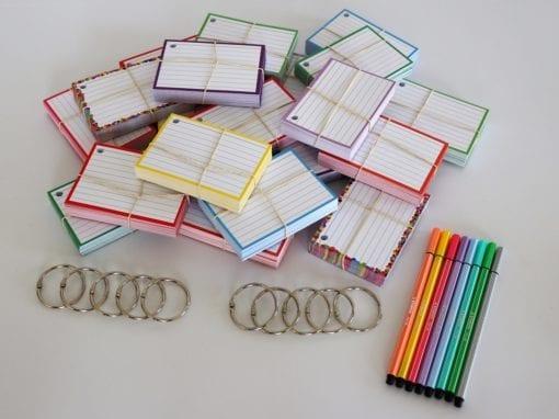 Colour Pack M 1000 A7 flashcards Stabilo Pen 68 Pastel
