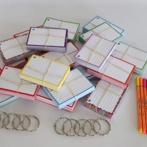 Colour Pack M 1000 A7 flashcards Stabilo Point 88 Pastel 8 stuks