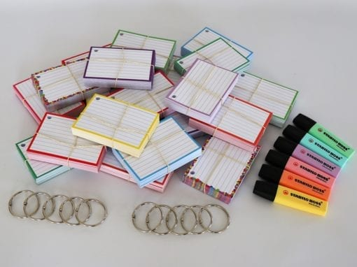 Colour Pack M 1000 A7 flashcards Stabilo Boss Pastel