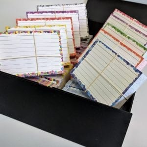 Gevulde boxen met A7 flashcards