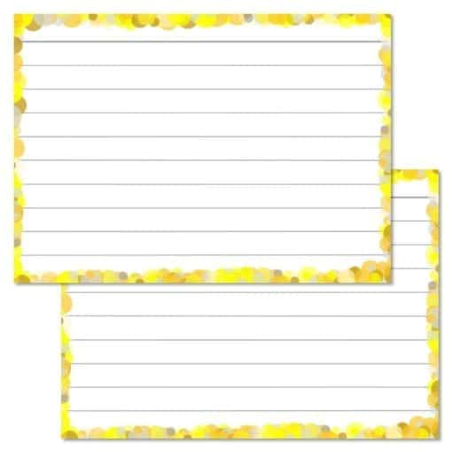 Gele confetti flashcards