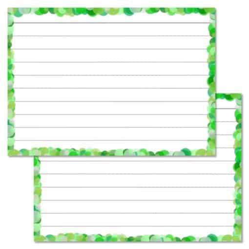 Groene confetti flashcards