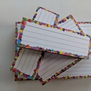 Proefpakket volledig confetti flashcards