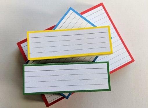 Proefpakket flashcards geel groen rood blauw