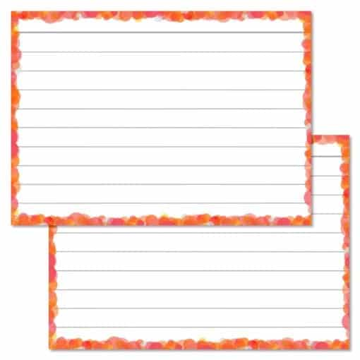 Oranje confetti flashcards