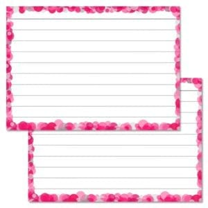 Roze confetti flashcards