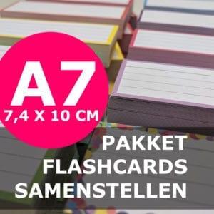 Pakket A7 flashcards samenstellen