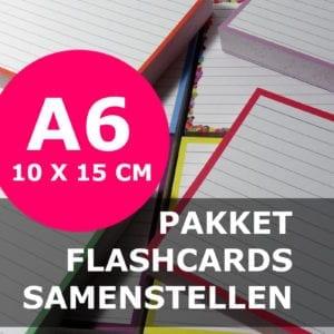 Pakket A6 flashcards samenstellen