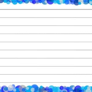 Blauwe confetti flashcards achterzijde