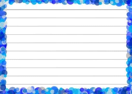 Blauwe confetti flashcards voorzijde
