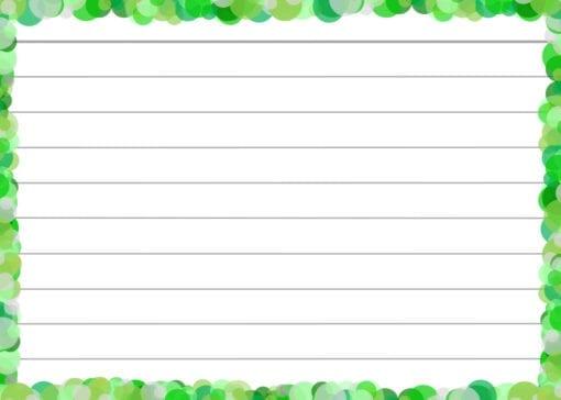 Groene confetti flashcards achterzijde