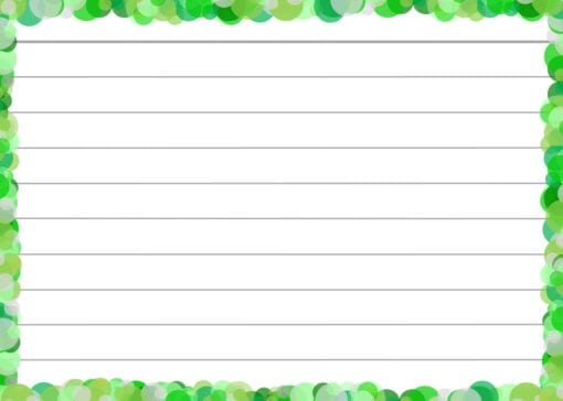 Groene confetti flashcards front