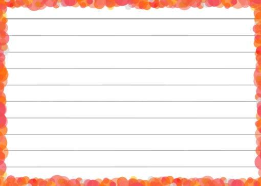 Oranje confetti flashcards voorzijde