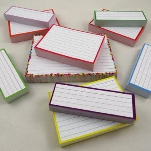 Combipakket 500 flashcards A6 A7 Half formaat confetti roze top