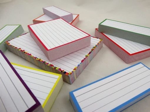 Combipakket 500 flashcards A6 A7 Half formaat confetti roze zoom