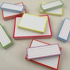 Combipakket 500 flashcards A6 A7 Half formaat pastel top