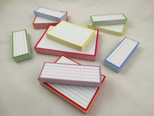 Combipakket 500 flashcards A6 A7 Half formaat pastel