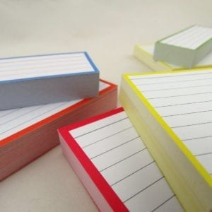 Combipakket 500 flashcards A6 A7 Half formaat zoom