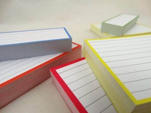 Combipakket 500 flashcards A6 A7 Half formaat zoom