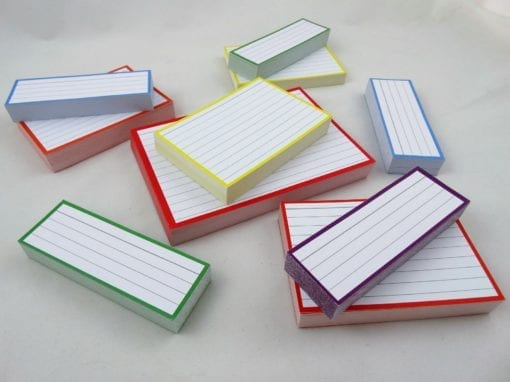 Combipakket 500 flashcards A6 A7 Half formaat top