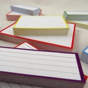 Combipakket 500 flashcards A6 A7 Half formaat