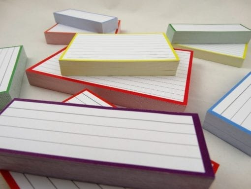 Combipakket 500 flashcards A6 A7 Half formaat