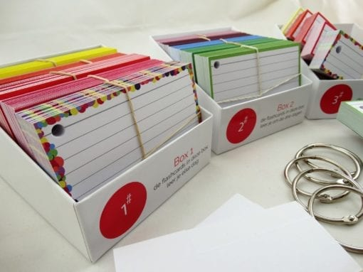 Examenpakket 1000 flashcards + boxjes - Side