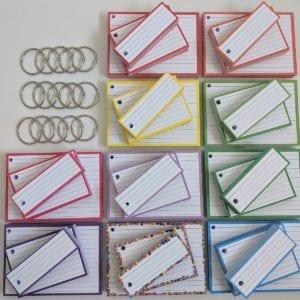 Combipakket Flashcards 500 A7 500 Half 500 A6 Geperforeerd 15 klikringen TOP