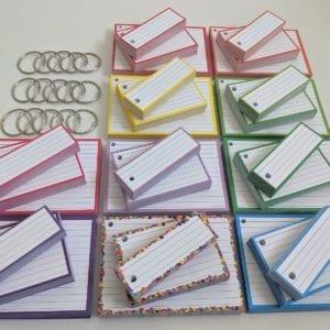 Combipakket Flashcards 500 A7 500 Half 500 A6 Geperforeerd 15 klikringen TOP front