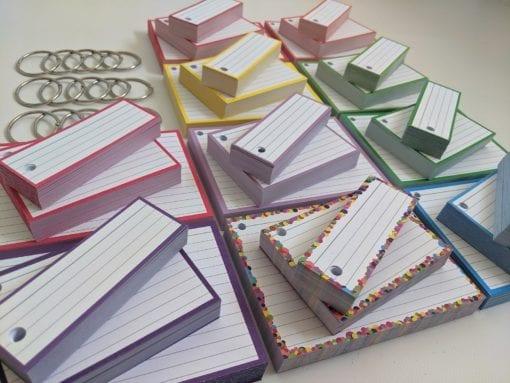 Combipakket Flashcards 500 A7 500 Half 500 A6 Geperforeerd 15 klikringen side