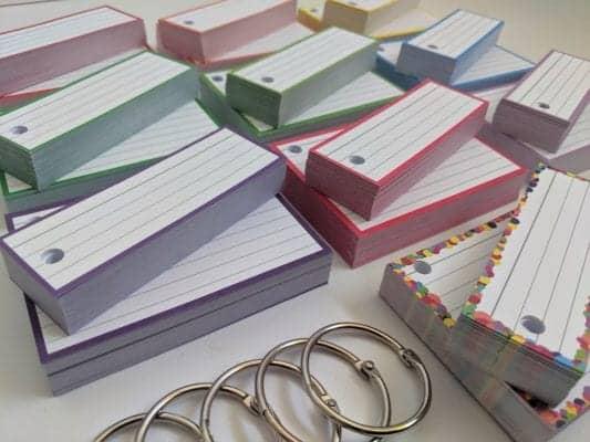 Combipakket Flashcards 500 A7 500 Half Geperforeerd 10 klikringen MAIN