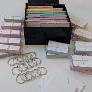 Luxe combipakket flashcards 1500 stuks met cadeaubox