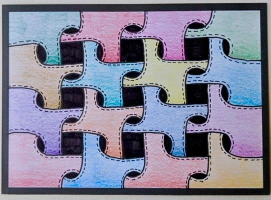 Flashcards zwarte rand puzzle